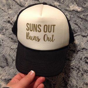 XXI Suns Out Buns Put Trucker Hat EUC